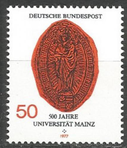 Poštovní známka Nìmecko 1977 Peèe� Míšeòské univerzity Mi# 938
