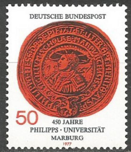 Poštovní známka Nìmecko 1977 Peèe� Univerzity Marburg Mi# 939
