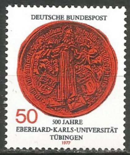 Poštovní známka Nìmecko 1977 Peèe� Univerzity Tübingen Mi# 946