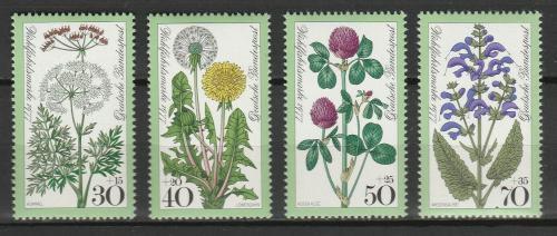 Poštovní známky Nìmecko 1977 Luèní kvìtiny Mi# 949-52 Kat 4.50€