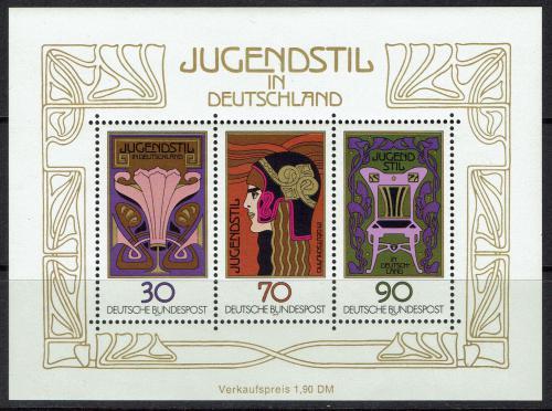 Poštovní známky Nìmecko 1977 Ornamenty Mi# Block 14