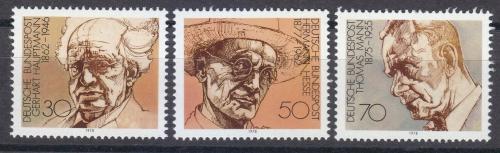 Poštovní známky Nìmecko 1978 Spisovatelé Mi# 959-61