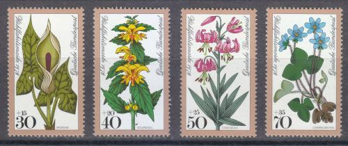 Poštovní známky Nìmecko 1978 Lesní kvìtiny Mi# 982-85