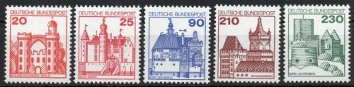 Poštovní známky Nìmecko 1978 Hrady a zámky Mi# 995-99 Kat 10€