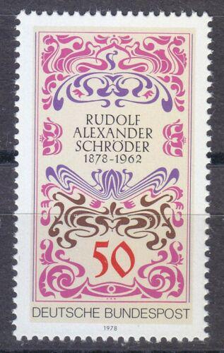 Poštovní známka Nìmecko 1978 Rudolf Alexander Schröder Mi# 956