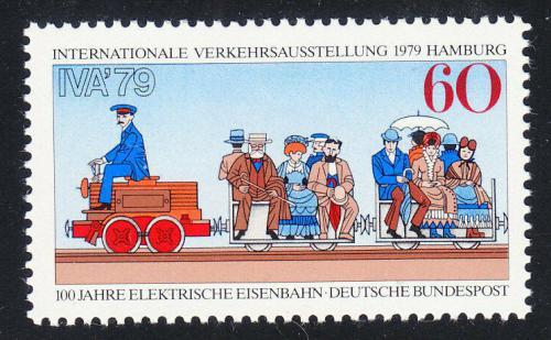 Poštovní známka Nìmecko 1979 První elektrická lokomotiva Mi# 1014