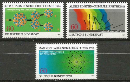 Poštovní známky Nìmecko 1979 Fyzika a chemie Mi# 1019-21 Kat 4€