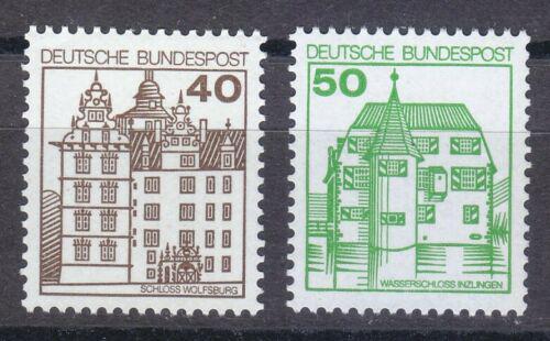 Poštovní známky Nìmecko 1980 Hrady a zámky Mi# 1037-38
