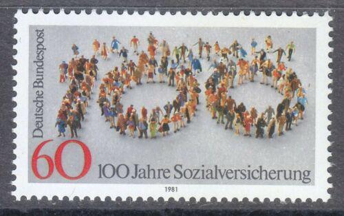 Poštovní známka Nìmecko 1981 Sociální pojištìní, 100. výroèí Mi# 1116