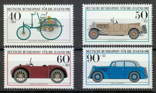 Poštovní známky Nìmecko 1982 Historické automobily Mi# 1123-26 Kat 5€