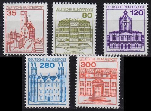 Poštovní známky Nìmecko 1982 Hrady a zámky Mi# 1139-43 Kat 13€