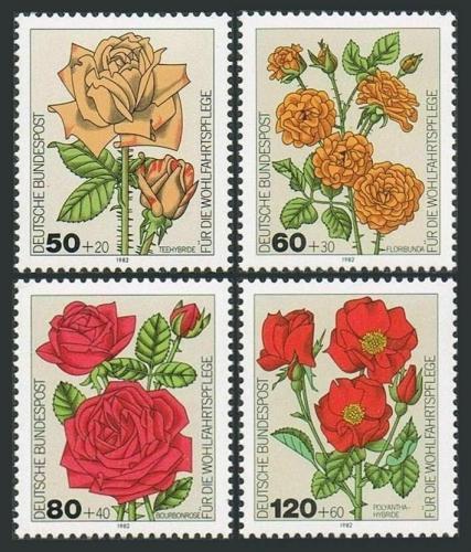 Poštovní známky Nìmecko 1982 Zahradní rùže Mi# 1150-53 Kat 5€
