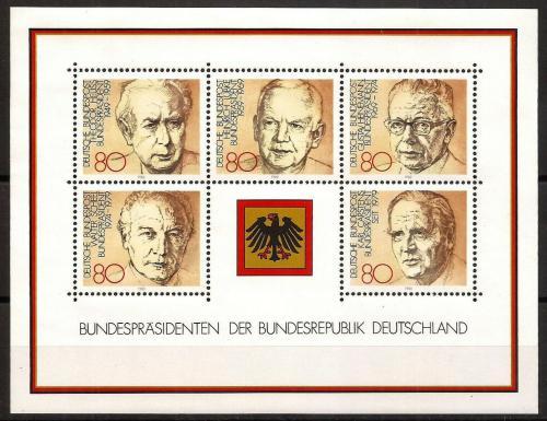 Poštovní známky Nìmecko 1982 Prezidenti Mi# 1156-60 Kat 6.50€