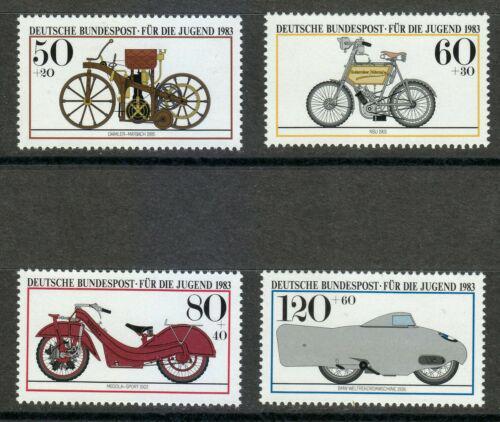 Poštovní známky Nìmecko 1983 Historické motocykly Mi# 1168-71 Kat 5.50€