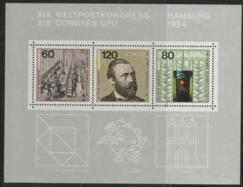 Poštovní známky Nìmecko 1984 Kongres UPU Mi# Block 19 Kat 4.50€