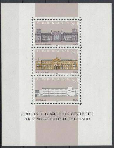 Poštovní známky Nìmecko 1986 Významné budovy Mi# Block 20 Kat 5€