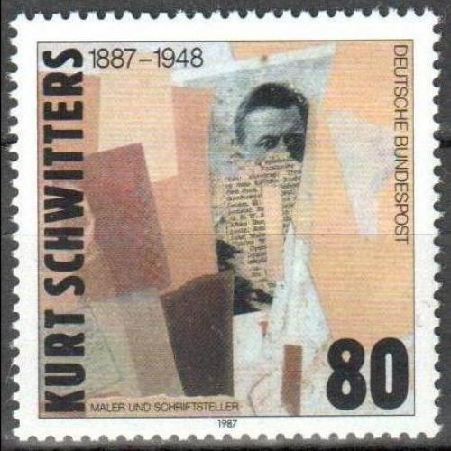 Poštovní známka Nìmecko 1987 Koláž, Kurt Schwitters Mi# 1326