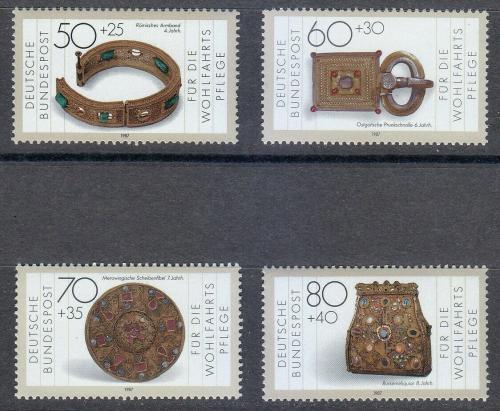 Poštovní známky Nìmecko 1987 Klenoty Mi# 1333-36 Kat 6.50€