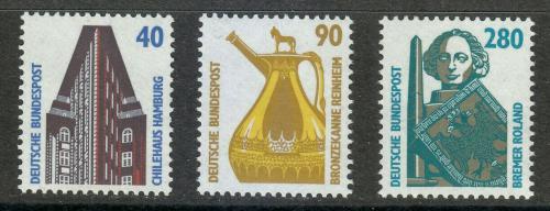 Poštovní známky Nìmecko 1988 Pamìtihodnosti Mi# 1379-81 Kat 7€