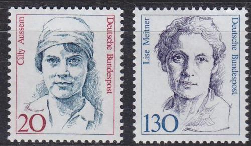 Poštovní známky Nìmecko 1988 Slavné ženy Mi# 1365-66 Kat 4€