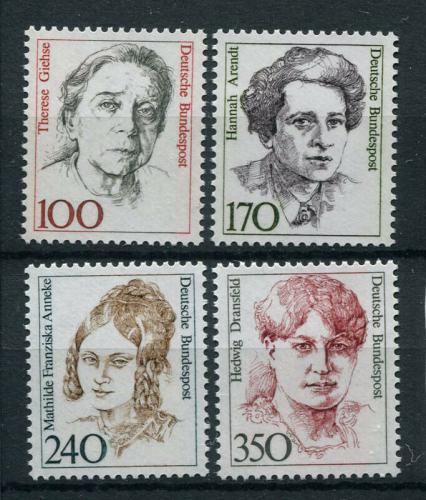 Poštovní známky Nìmecko 1988 Slavné ženy Mi# 1390-93 Kat 13€