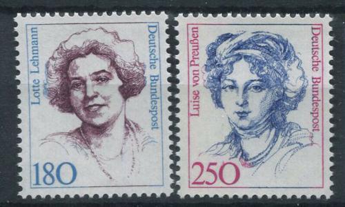 Poštovní známky Nìmecko 1989 Slavné ženy Mi# 1427-28 Kat 8€