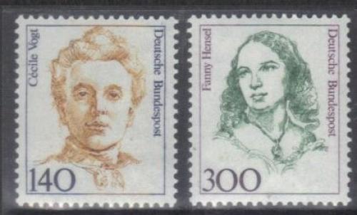 Poštovní známky Nìmecko 1989 Slavné ženy Mi# 1432-33 Kat 6.50€