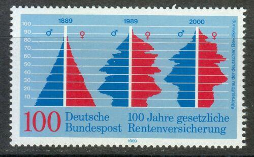 Poštovní známka Nìmecko 1989 Dùchodové pojištìní, 100. výroèí Mi# 1426