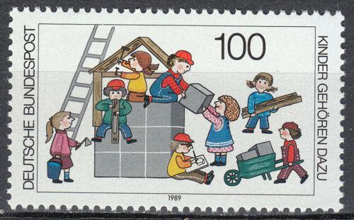 Poštovní známka Nìmecko 1989 Dìti stavící dùm Mi# 1435