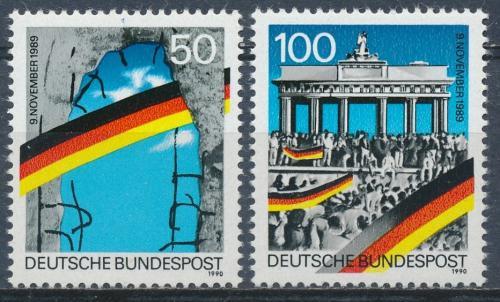 Poštovní známky Nìmecko 1990 Pád Berlínské zdi Mi# 1481-82 Kat 4€