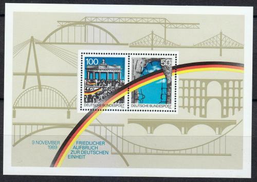 Poštovní známky Nìmecko 1990 Pád Berlínské zdi Mi# Block 22 Kat 4.50€