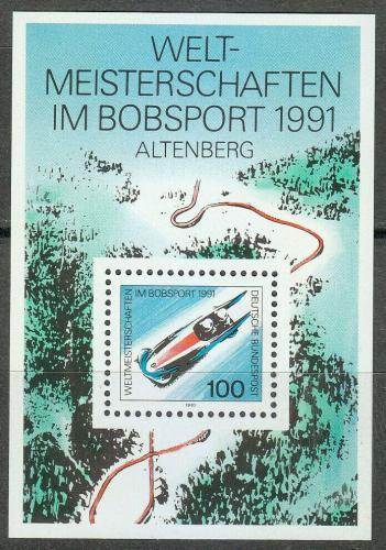 Poštovní známka Nìmecko 1991 MS v jízdì na bobech Mi# Block 23