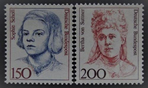 Poštovní známky Nìmecko 1991 Slavné ženy Mi# 1497-98 Kat 6€
