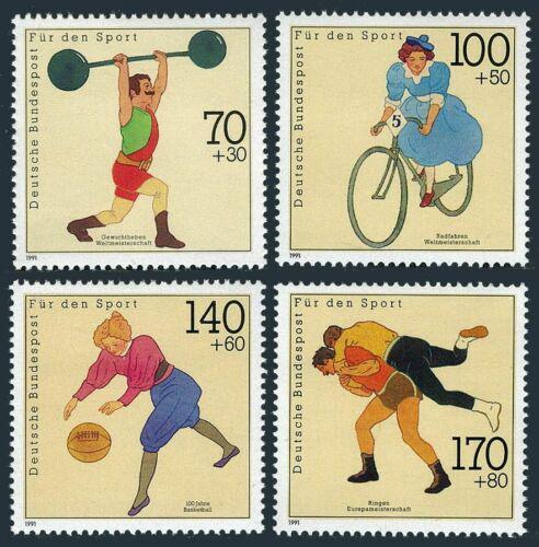 Poštovní známky Nìmecko 1991 Sport Mi# 1499-1502 Kat 10€
