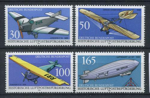 Poštovní známky Nìmecko 1991 Historie letectví Mi# 1522-25 Kat 6€