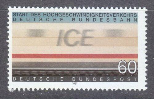 Poštovní známka Nìmecko 1991 Vysokorychlostní železnice Mi# 1530