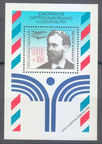 Poštovní známka Nìmecko 1991 Otto Lilienthal Mi# Block 24 Kat 4.50€