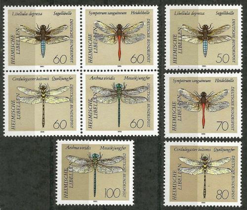 Poštovní známky Nìmecko 1991 Vážky Mi# 1545-52 Kat 10€