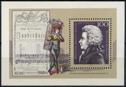 Poštovní známka Nìmecko 1991 Wolfgang Amadeus Mozart Mi# Block 26