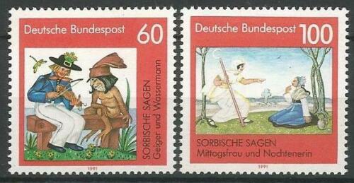 Poštovní známky Nìmecko 1991 Lužické legendy Mi# 1576-77