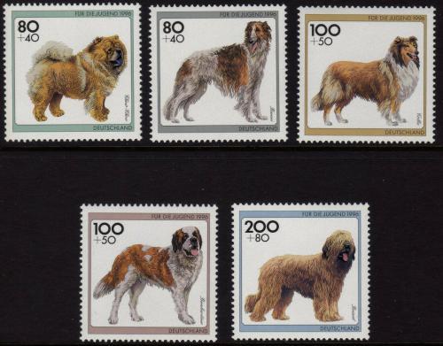 Poštovní známky Nìmecko 1996 Psi Mi# 1836-40 Kat 10€