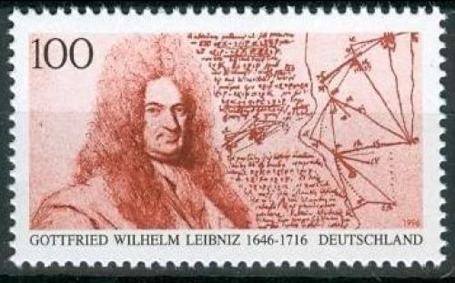Poštovní známka Nìmecko 1996 Gottfried Wilhelm Leibniz Mi# 1865