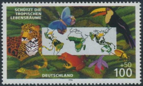 Poštovní známka Nìmecko 1996 Ochrana pøírody Mi# 1867