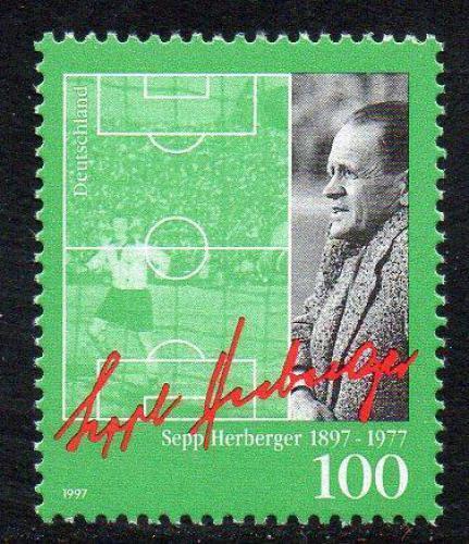 Poštovní známka Nìmecko 1997 Sepp Herberger, fotbal Mi# 1896