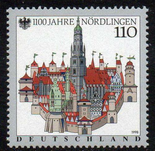 Poštovní známka Nìmecko 1998 Nördlingen, 1100. výroèí Mi# 1965