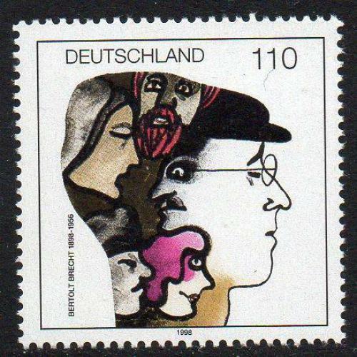 Poštovní známka Nìmecko 1998 Bertolt Brecht, spisovatel Mi# 1972