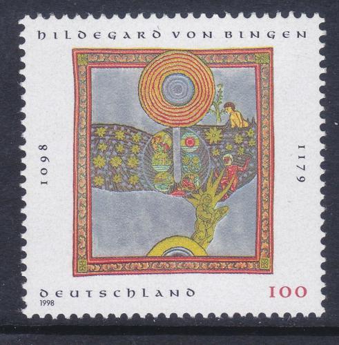 Poštovní známka Nìmecko 1998 Svatá Hildegarda z Bingenu Mi# 1981