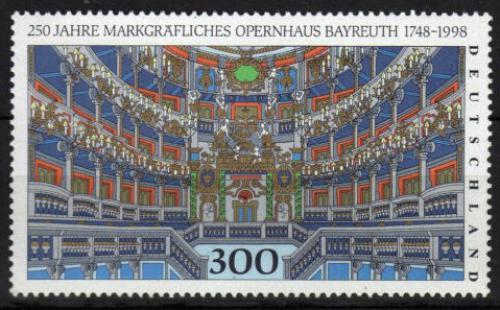 Poštovní známka Nìmecko 1998 Markrabìcí operní dùm v Bayreuthu Mi# 1983