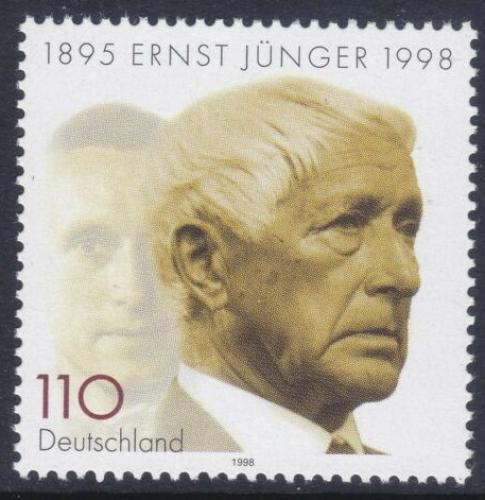 Poštovní známka Nìmecko 1998 Ernst Jünger, spisovatel Mi# 1984