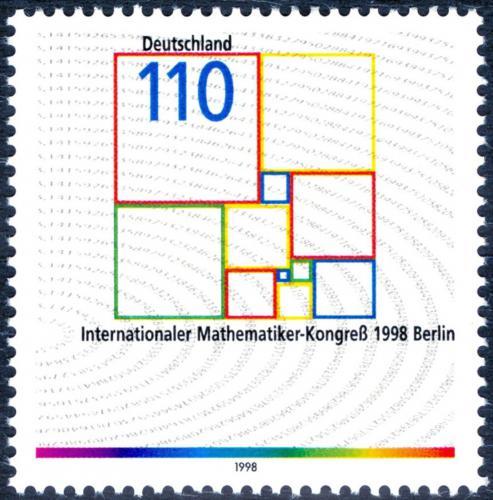 Poštovní známka Nìmecko 1998 Matematický kongres Mi# 2005